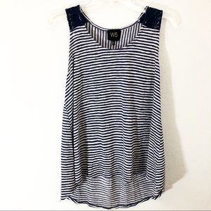 Anthropologie W5 Small Tank Stripe Sleeveless